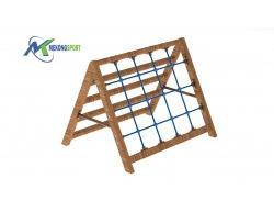 Thang lưới khung gỗ